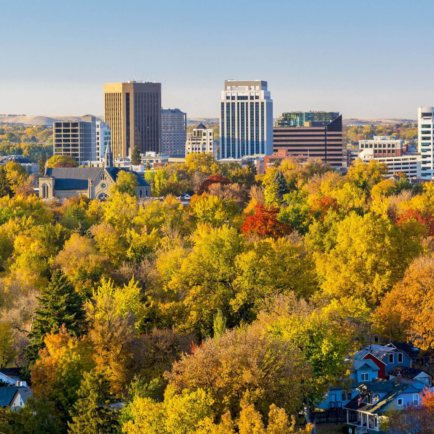 Scenic view of Boise, Idaho